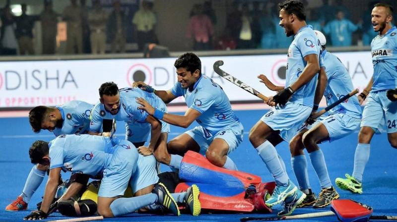 It was a great exhibition of attacking hockey from both the sides as the regulation time yielded as many as six goals, three each from either side. (Photo: Hockey India)