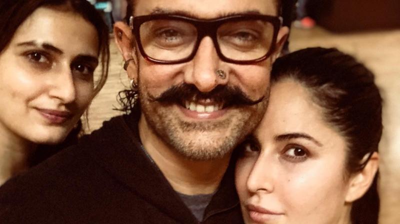 Fatima Sana Shaikh, Aamir Khan and Katrina Kaif in a selfie. (Photo: Instagram)