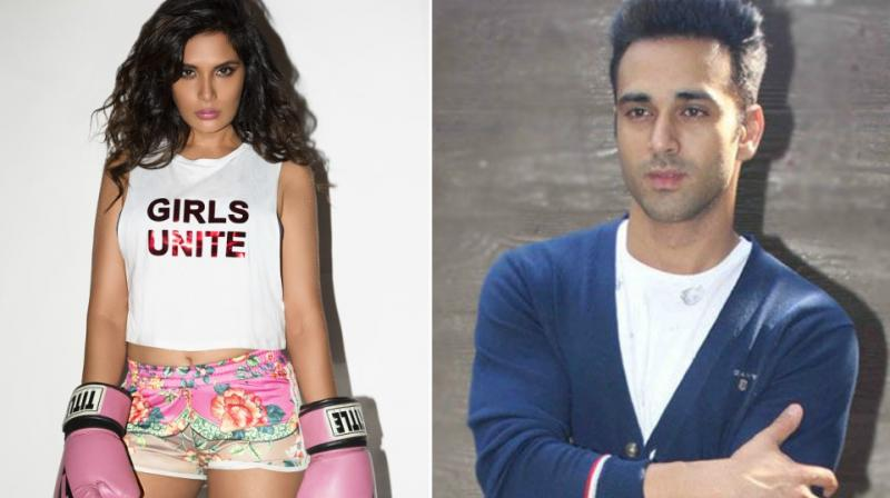 Richa Chadha in a photoshoot, Pulkit Samrat at an event.