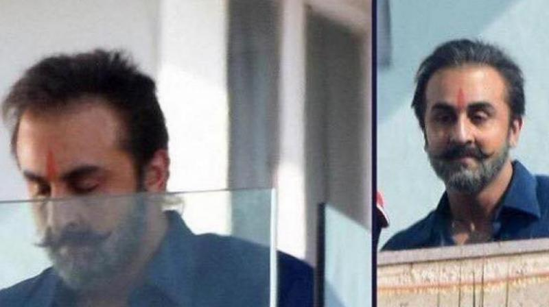 Ranbir Kapoor's look in 'Sanju'.