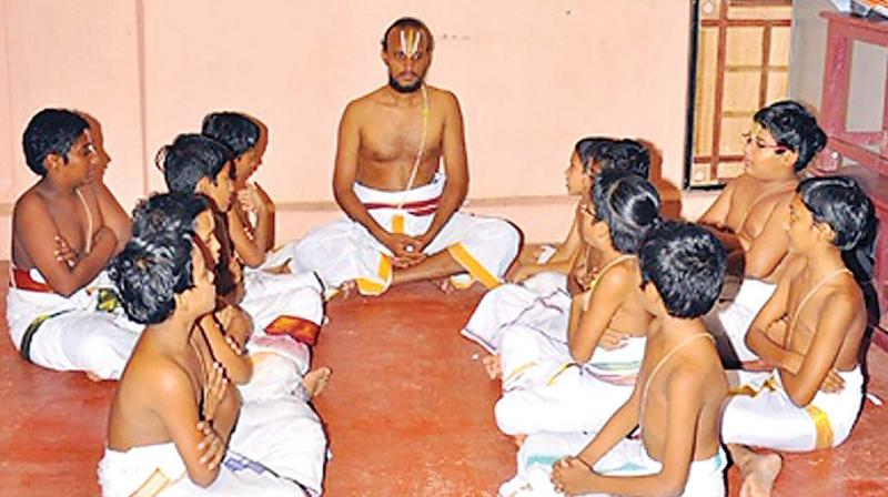 A class in the patashala at Tiruvallur.