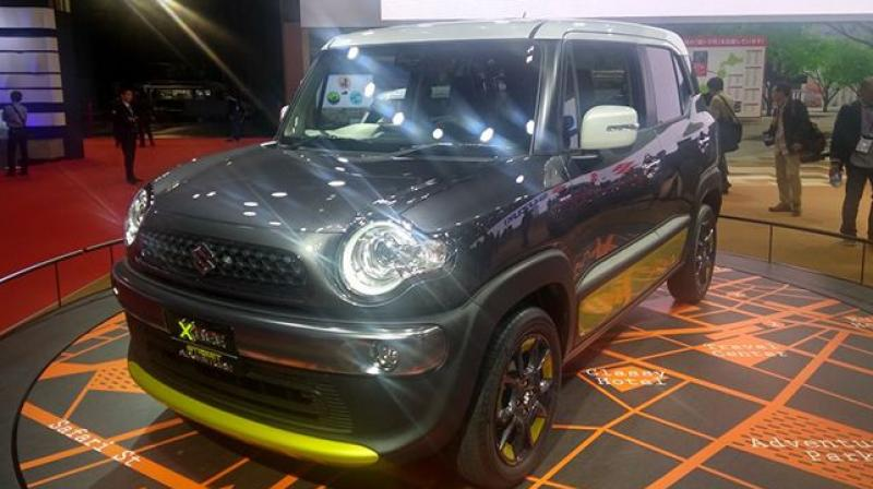 Crossover is based on the Suzuki Huster, which is already on sale in Japan. suzuki, xbee, micro suv, tokyo motor show.