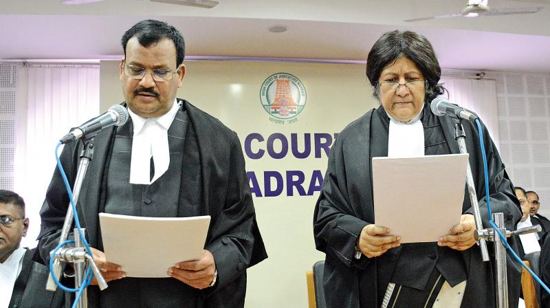 Justice Satrughana Pujahari sworn in as Madras HC judge