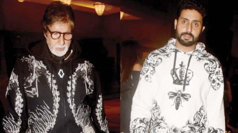 The Bachchans  slaying in their hoodies.