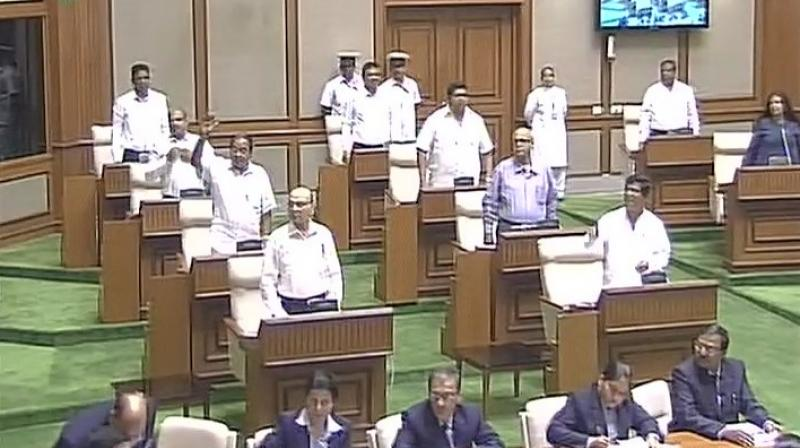 Goa Assembly in session. (Photo: ANI Twitter)