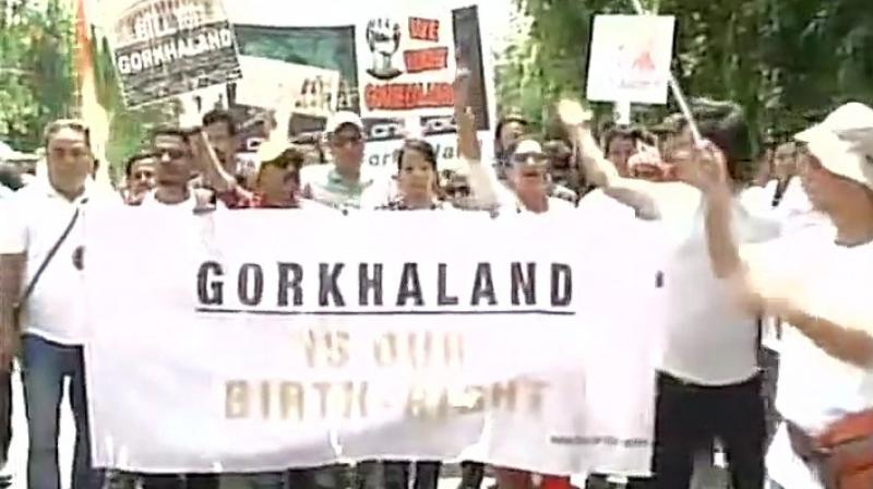 Protesters march into Jantar Mantar of New Delhi. (Photo: Twitter | ANI)