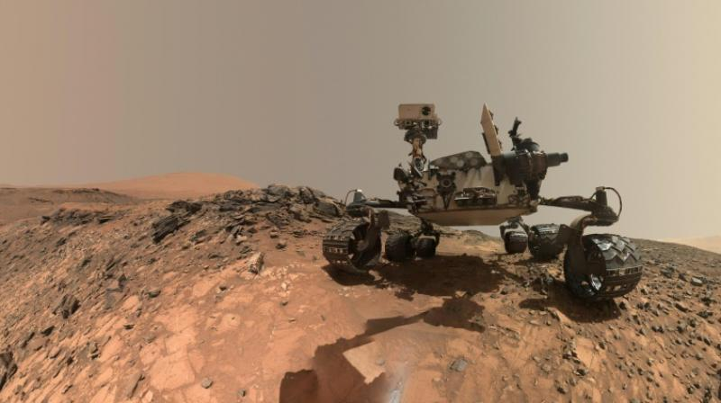 The new research was made possible by the discovery by NASA's Curiosity Mars rover of manganese oxides. (Photo: AFP)