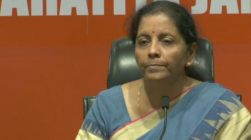Sitharaman had on Tuesday started her pre-Budget consultations here with different stakeholder groups in connection with the forthcoming General Budget 2019-20. (Photo: Twitter/ ANI)