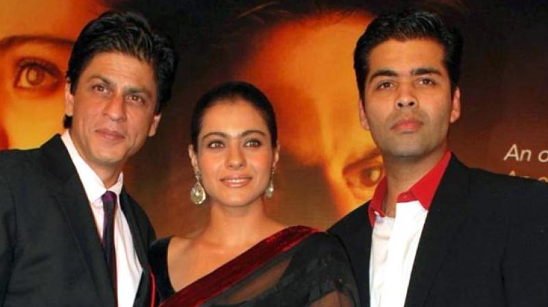 Shah Rukh Khan, Kajol and Karan Johar.