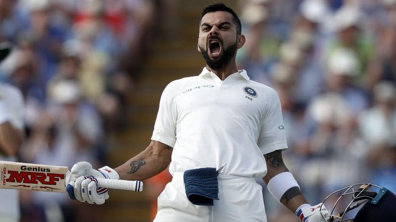 Virat Kohli reclaimed the top spot in the latest ICC Test Rankings after his brilliant show in the third Test against England, where he scored 97 and 103 runs in the first and second innings respectively. (Photo: AFP)