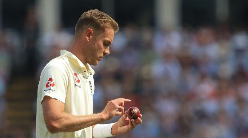 Broad might have had Warner out with his first ball, caught behind down the legside by wicketkeeper Bairstow. (Photo: AFP)
