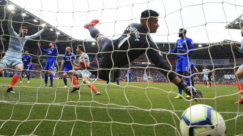 Chelsea, who started without talisman Eden Hazard and midfielder N'Golo Kante, struggled to create chances and failed to hit a single shot on target in the first half. (Photo: AP)