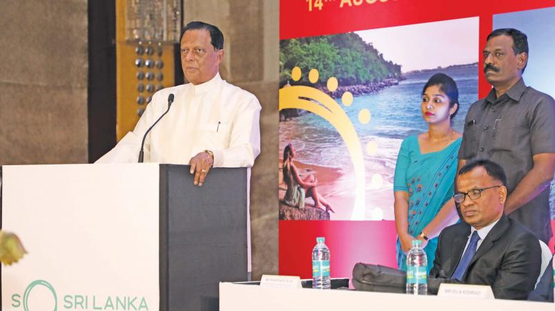 John Amaratunga, Sri Lankan tourism, wildlife and Christian religious affairs minister, on his visit to Chennai. (Photo: DC)