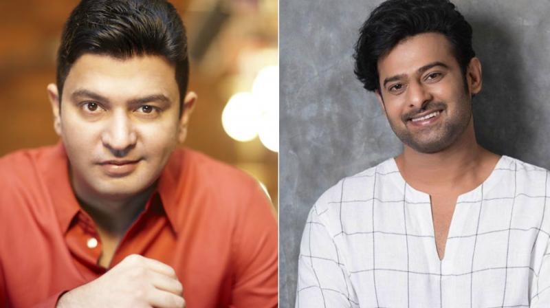 Bhushan Kumar and Prabhas.