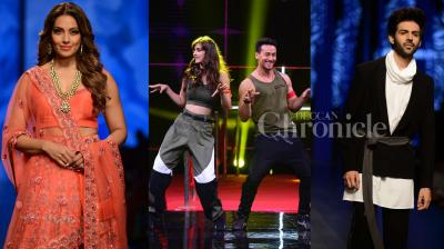 Bollywood actors Bipasha Basu, Kartik Aaryan rocked the ramp at the fashion show. 'Baaghi 2' actors Tiger Shroff and Disha Patani promote their upcoming action thriller on the dance show. See all other exclusive pictures of your favourite stars. (Photos: Viral Bhayani)