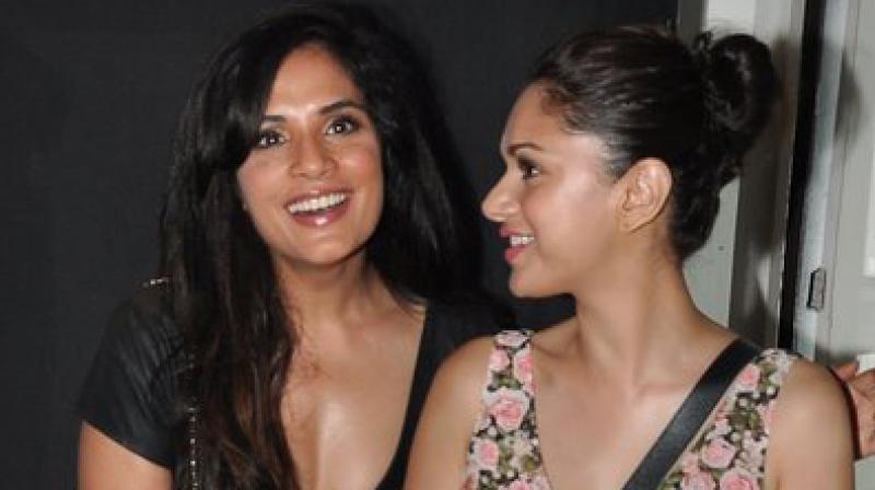 Aditi Rao Hydari and Richa Chadha.