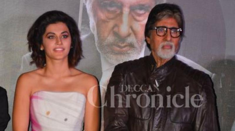 Taapsee Pannu with Big B.