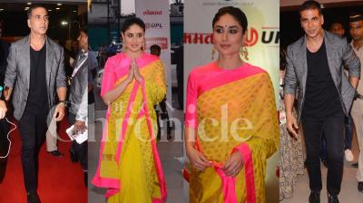 Bollywood actors Akshay Kumar, Kareena Kapoor Khan were present at the special awards night at NSCI, Worli. Many popular Marathi actors were also in attendance at the event. See all the photos here. (Pictures: Viral Bhayani)
