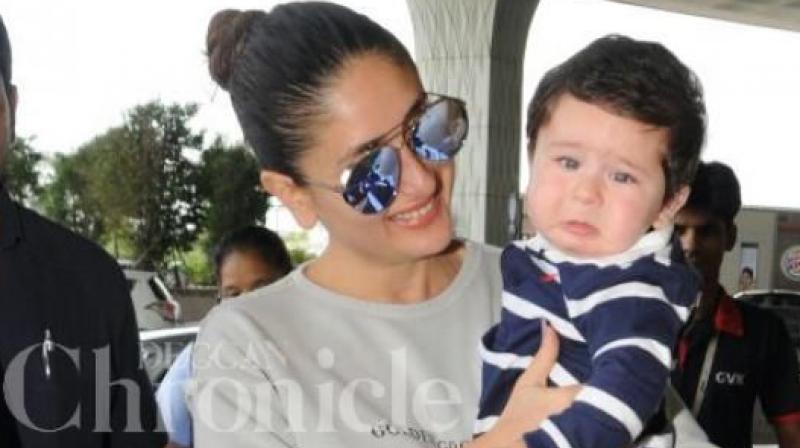 Taimur with mummy Kareena Kapoor Khan.