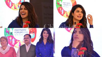 Bollywood actor and international star Priyanka Chopra, who is a UNICEF Goodwill Ambassador, was in Delhi on Wednesday for conference of Partnership for Maternal, Newborn and Child Health (PMNCH). See the exclusive pictures of Priyanka Chopra from the event. (Photos: Viral Bhayani)