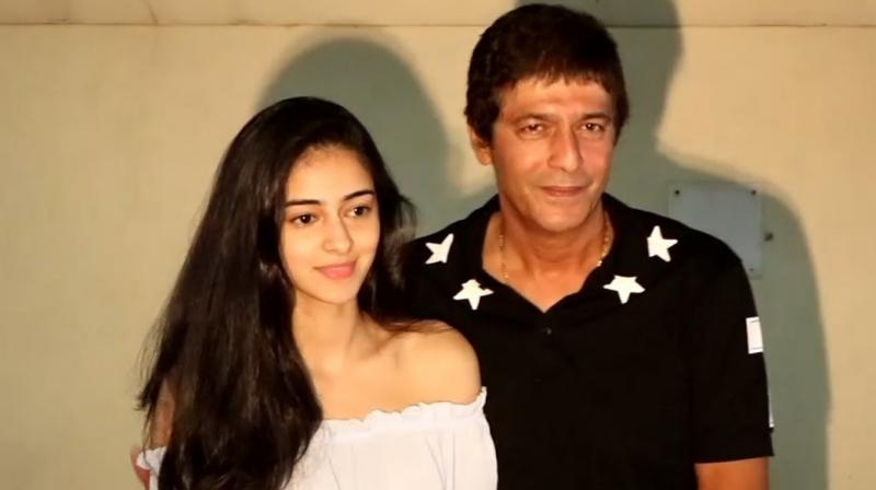 Image result for Ananya panday and Chunky Pandey