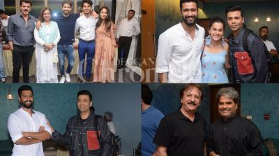 Bollywood biggies Karan Johar, Vishal Bhardwaj, Shahid Kapoor and other celebrities were present at 'Beyond the Clouds' special screening. (Photos: Viral Bhayani)
