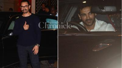 The Ambanis are in the mood for celebrations as their son recently got engaged, and now it appears that they threw a party for the same, which was attended by the likes of Aamir Khan and John Abraham.