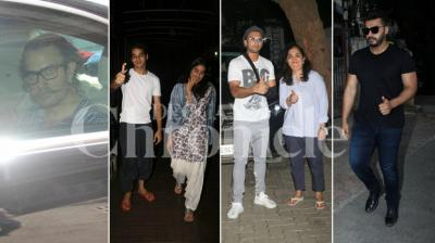 Late actress Sridevi's daughter Janhvi Kapoor's debut film 'Dhadak' has finally wrapped up and she, along with Ishaan Khatter, painted the town red, but so did Ranveer Singh, Arjun Kapoor and others.