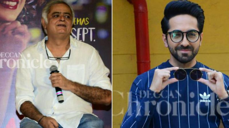 While Hansal Mehta is awaiting the release of 'Omerta', Ayushmann Khurrana is busy shooting for his films.