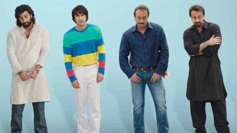 Ranbir Kapoor in Sanjay Dutt's various avatars from Sanju teaser.