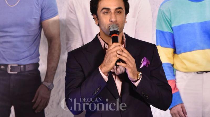 Ranbie Kapoor at 'Sanju' teaser launch.