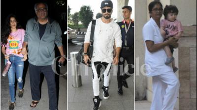 It seemed to be a time to travel places for celebrities as Shahid Kapoor, Karan Johar and others made their way to the airport, Janhvi Kapoor along with her father visited her bhaiya Arjun Kapoor and Taimur Ali Khan was snapped once again outside his car.