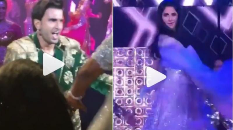Katrina Kaif and Ranveer Singh captured grooving at a sangeet ceremony