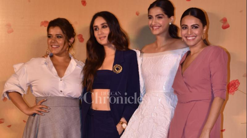 The trailer of 'Veere Di Wedding' was unveiled among the media and fans at a suburban theatre on Wednesday. It was all about the girl gang at the much-awaited venue.