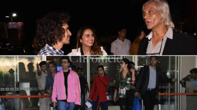 Sudhir Mishra's 'Daas Dev' screening was held in the suburbs recently. Even Emraan Hashmi caught up with his 'Cheat India' team and the others, like Karan Johar and Katrina Kaif, and others, were spotted at the airport, reuniting with someone.