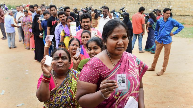 The last assembly election in the state in 2013 had witnessed 71.4 per cent polling. (Photo: AP)