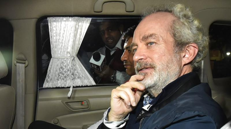 After two hours of sleep, Christian Michel was again questioned by officials of the Special Investigation Team of the CBI. (Photo: PTI)