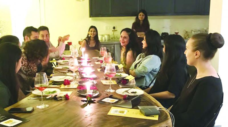 People share stories of loved ones at a death dinner organised by food architect Jashan Sippy and chef Devika Manjrekar in Mumbai.