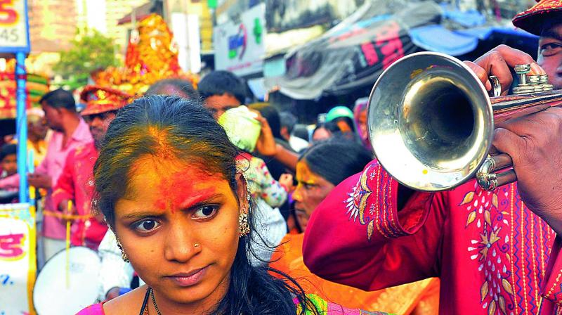 The seventh street of Kamathipurais filled with colour and loud celebration.