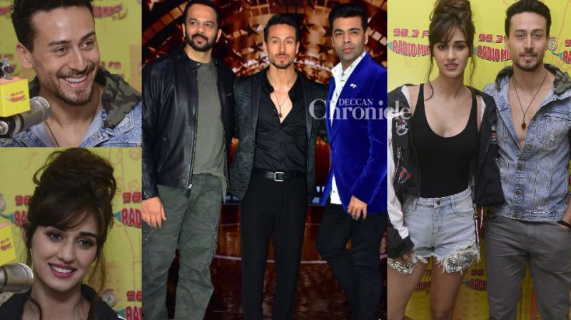 Tiger Shroff and Disha Patani were spotted at promotional events for their film 'Baaghi 2' in Mumbai on Tuesday. (Photo: Viral Bhayani)