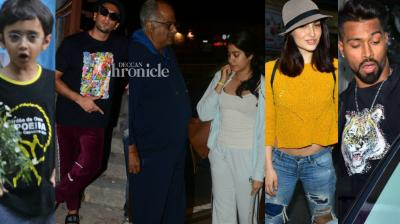 Celebrities from the entertainment industry went out and about in Mumbai on Tuesday and were snapped by the cameras. (Photo: Viral Bhayani)