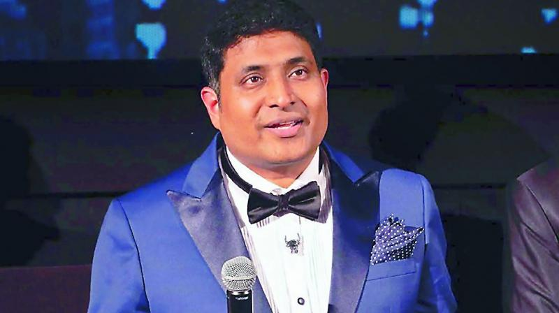 Dr Satya Prakash Choudhary with the awards