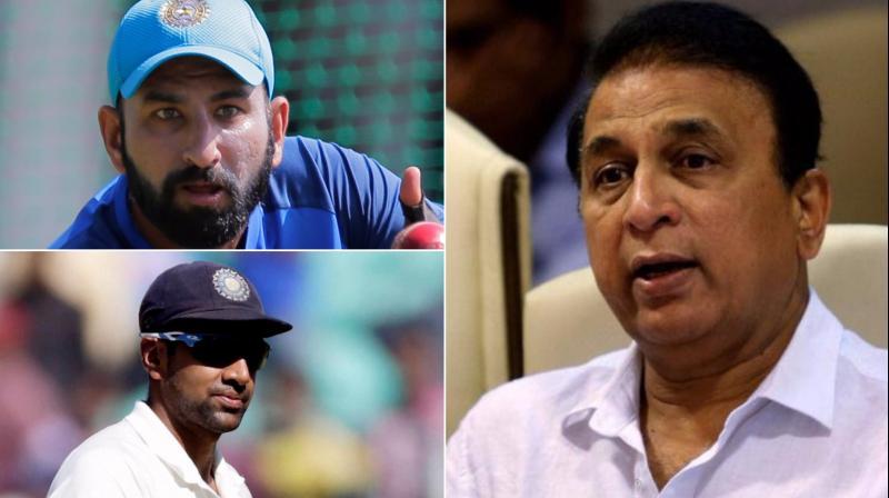 """He looks like a car that runs with a handbrake on,"" said Sunil Gavaskar, who was commentating, on Cheteshwar Pujara's effort. (Photo: AP / PTI)"