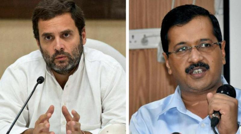 The AAP has been batting for tie up with Congress citing the need to defeat the BJP and replace the Modi government in the national interest. (Photo: PTI)