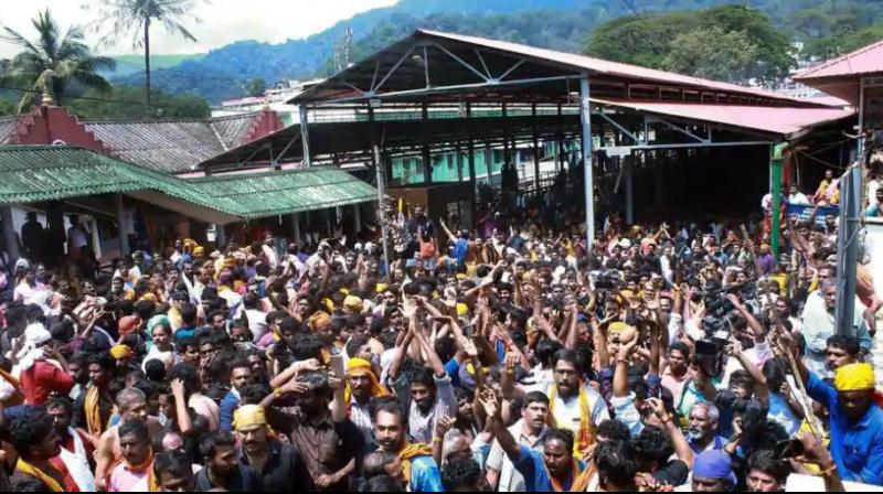 The state has been witnessing violent protests by activists of the BJP and Hindu right organisations since Wednesday afternoon over the successful entry of two women of reproductive age into the Sabarimala temple.  (Photo: File)