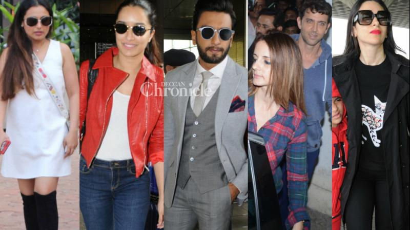 The paparazzi clicked Bollywood celebrities at various locations in Mumbai on Sunday. (Photo: Viral Bhayani)