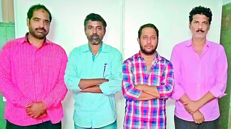 The arrested were identified as Mohd Zafar Khan alias Zafar, Thakur Ritesh Singh, Kalugotala Veera Shankara Surya Satyam and Suresh Panchariya