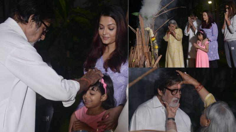 Pictures Amitabh Bachchan shared on Twitter.