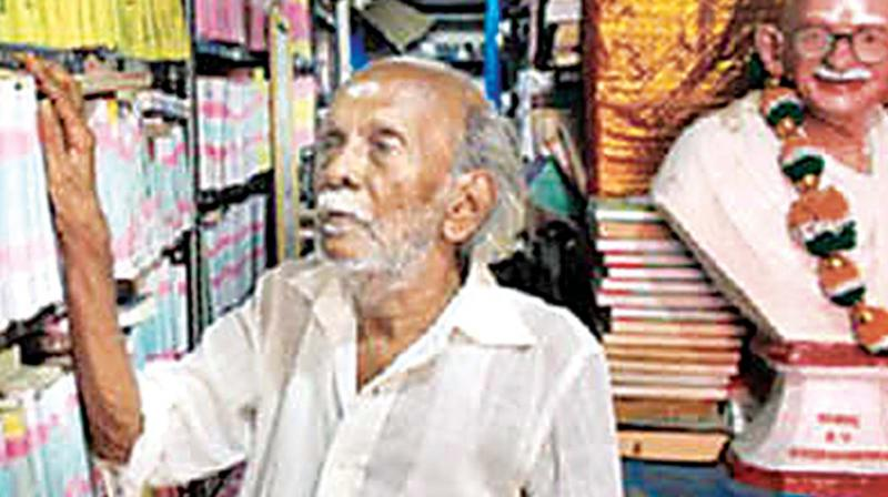 Mahalingam at his library. (Photo: DC)