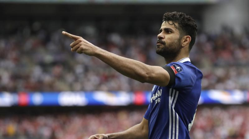Costa scored 20 goals for Chelsea to help the club win the Premier League title this season, finishing as the competition's third-highest scorer.(Photo: AP)